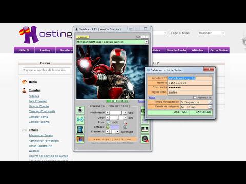 TecnoAyuda Safe4cam : Cómo Transmitir Imágenes por Internet (Hosting Gratuito)