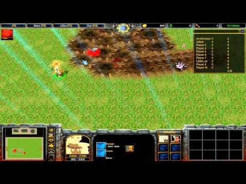 Warcraft III: TFT - Naruto Battle Royal - 33 - Naruto vs Obito vs Kakashi
