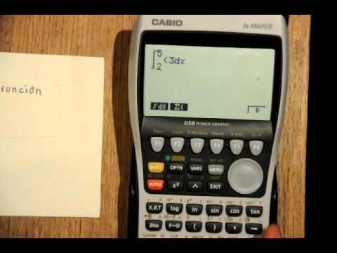 Uso de la calculadora Casio fx-9860GII