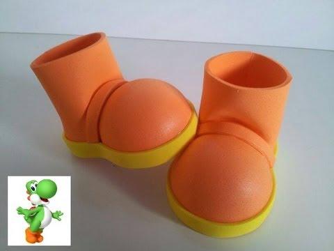 como hacer unas botas para fofucha yoshi youtube
