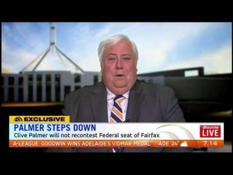 Clive Palmer - on Sunrise, Senate candidates to run in all areas