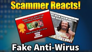 """""""Super Free Anti-Wirus Pro"""" - Scammer Reacts To Fake Anti-Virus!  Tech Support Scammer Trolling"""