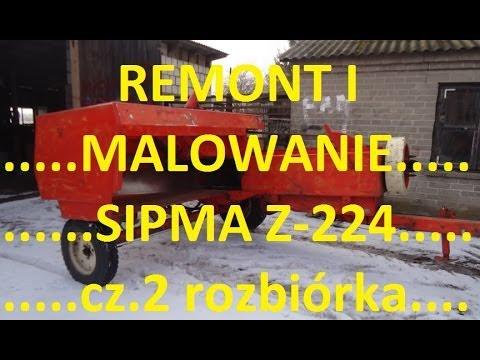 Remont i malowanie prasy SIPMA Z-224 cz.2 rozbiórka....