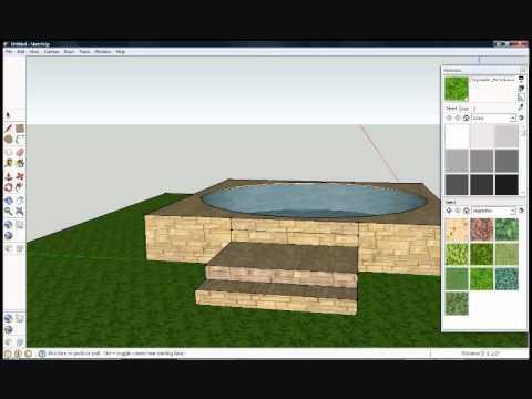 Google sketchup pool and hot tub for Pool design sketchup