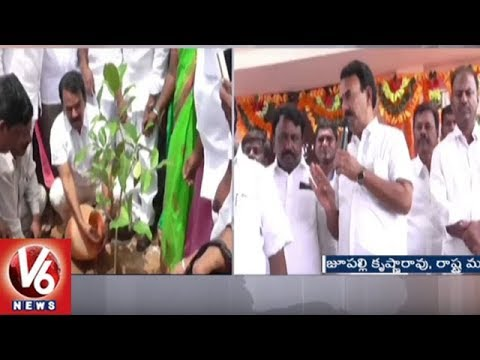 Minister Jupally Krishna Rao Visits Jogulamba Gadwal Dist, Launches Several Development Works | V6