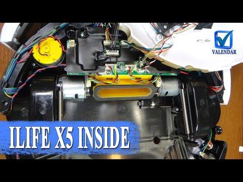Что внутри Ilife X5, внутренности умного робота пылесоса, как разобрать