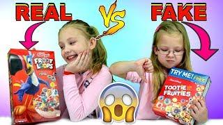 Real Brand vs Dollar Store Brand Food Challenge!!!
