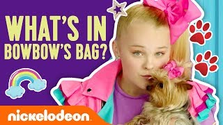 BowBow's Tricks + What's in BowBow's Doggie Bag 🐶 JoJo Siwa | #NickStarsIRL