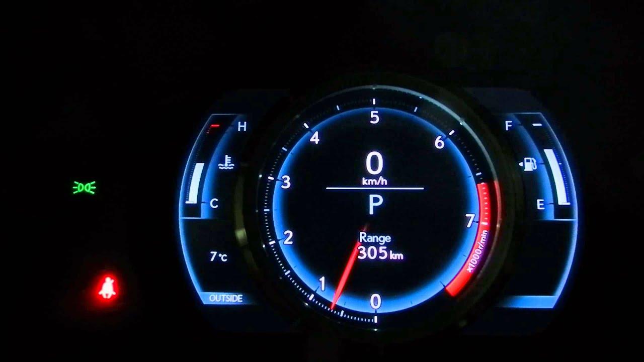 2015 Lexus Is 350 Awd F Sport Instrument Cluster Movement