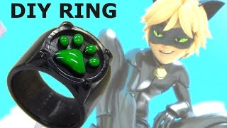 How to make cool Adrien Chat Noir ring from Miraculous using cast resin and silicone mold