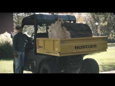 Hustler Innovative Levelift Dump Cart -- MDV