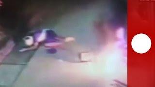 ATM එකක් කඩලා සල්ලි ගන්න මෙයාට වෙන වැඩේ බලන්න. Robbery fail: ATM catastrophically explodes in thief'