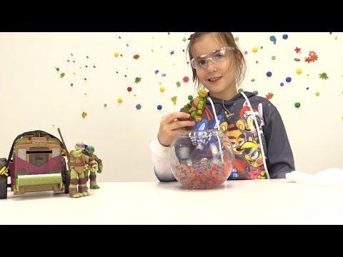 🔫 Видео с игрушками: #ЧЕРЕПАШКИ НИНДЗЯ против #ЗОМБИ. Миссия - СПАСТИ ГОРОД