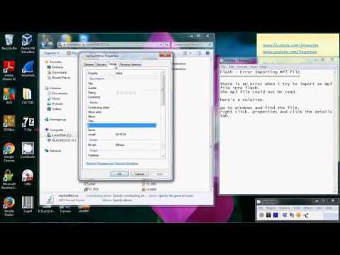 Flash - Error Importing MP3 File