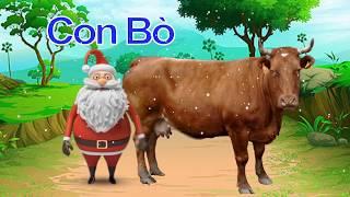 Dạy các con vật cho bé thông minh cùng Ông Già Noel, Dạy bé học màu sắc online - Bé Học Bé Chơi #30