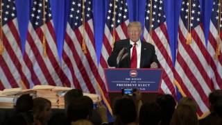download Donald Trump gives first press conference after elections Video