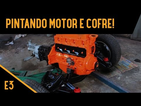PINTANDO MOTOR E COFRE! Opala 1973 Motor 153 - EP3
