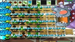 PLANTS VS ZOMBIES 100% SNOW PEA VS DR. ZOMBOSS`S