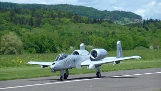 Huge R/C Twin-Turbine Model Scale Jet Warthog Thunderbolt A-10 by M.Sannwald