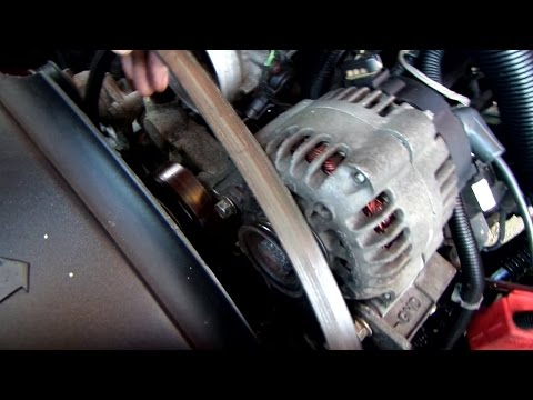 How to replace the serpentine belt in a Chevy truck