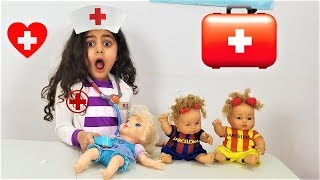 Doctor Sally Saves baby dolls Johny Johny Yes Papa