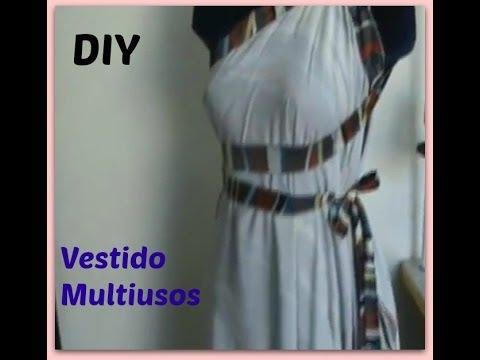 Como Hacer Un Vestido Multiusos Facil Y Rapido DIY How To Make A Wrap Dress