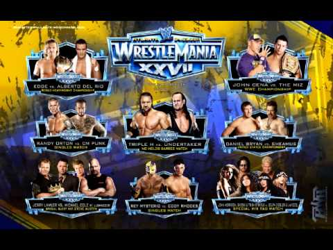 WWE WrestleMania 27 Theme Song (Arena Effect) with crowd