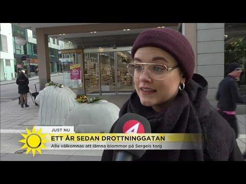 """Tillbaka på Drottninggatan: """"Märkte helt plötsligt att det sprang folk"""" - Nyhetsmorgon (TV4)"""