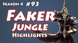 SKT T1 Faker - Master Yi Jungle - KR LOL SoloQ Highlights