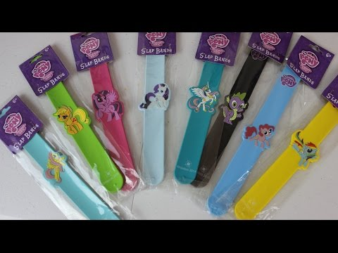 8 My Little Pony Slap Bands Twilight Sparkle Pinkie Pie Rarity Apple Jack |Pulseras My Little Pony