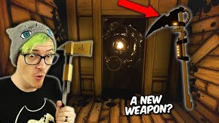 We found a Scythe in chapter 5!? & New Chapter 1 portal | Bendy and the ink machine Secrets