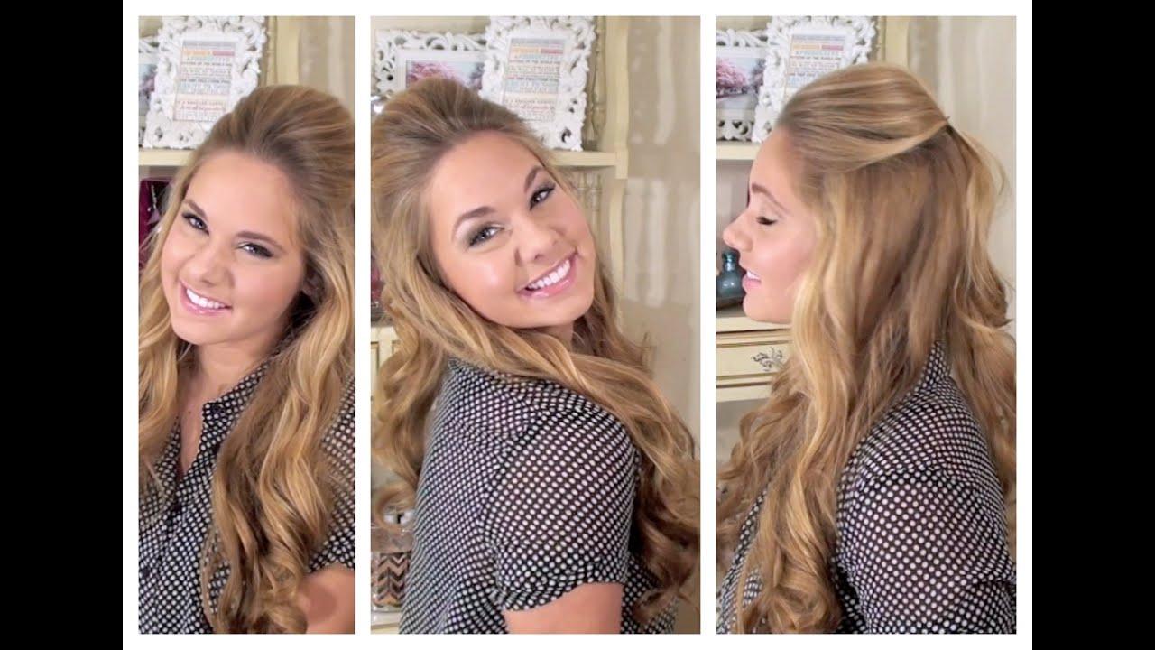 Relaxed, but Glamorous Half Up Hair - My Bridesmaid