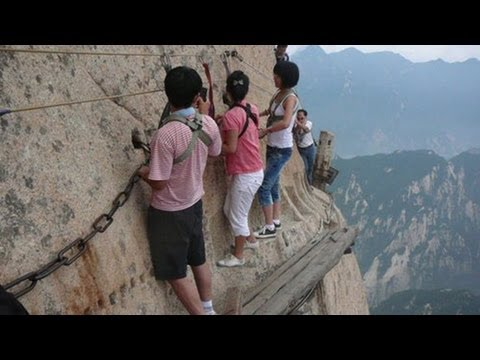 The World s Most Dangerous Hiking Trail - Huashan Trail in China