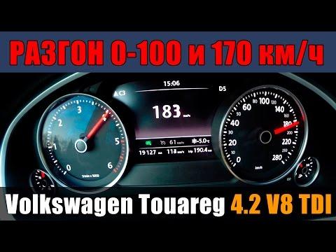 Volkswagen Touareg 4.2 V8 TDI - Разгон 0-100 и 0-170км/ч от ATDrive.ru