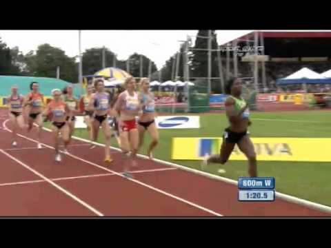 Women&#039;s 800 m  Diamond League Aviva Birmingham Grand Prix 2011