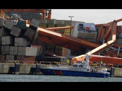 Wypadek Statku W Gdyni. Prom Uderzył W Nabrzeże, Przewrócił Suwnice. Gdynia Port BCT