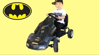 Hauck Batman  Batmobile Go Kart Racing Fun And Unboxing  Kids Park Playtime With Ckn Toys