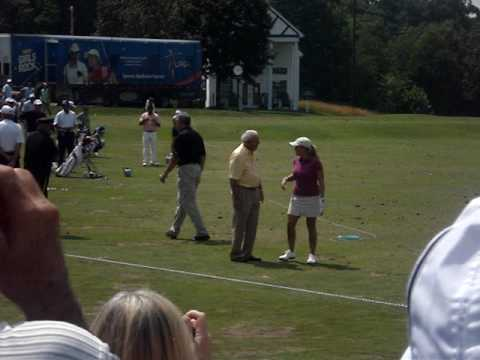 Arnold Palmer with Cristie Kerr and Paula Creamer - 2010 Women's US Open Video