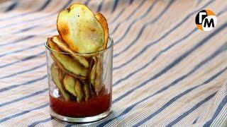 Картофельные чипсы в духовке | Как сделать домашние чипсы в духовке -- Голодный Мужчина, Выпуск 75