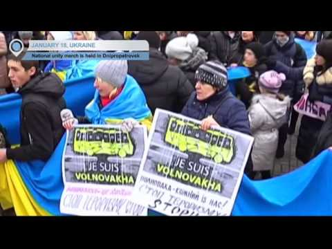 Ukraine Peace March: National unity demonstration held in Dnipropetrovsk