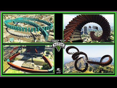 GTA Online Stunt Montage - Rockstar Editor Stunt Race Montage (GTAV Race Links on ALL Platforms)