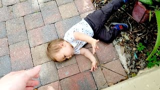 BABY FALLS OFF FRONT PORCH!!!