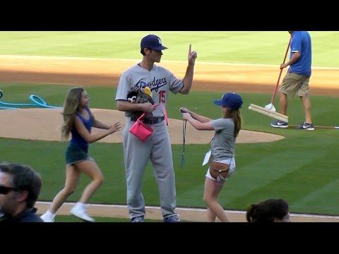 Dodgers Shawn Green, Karros, Nomar @Oldtimers Game 2014