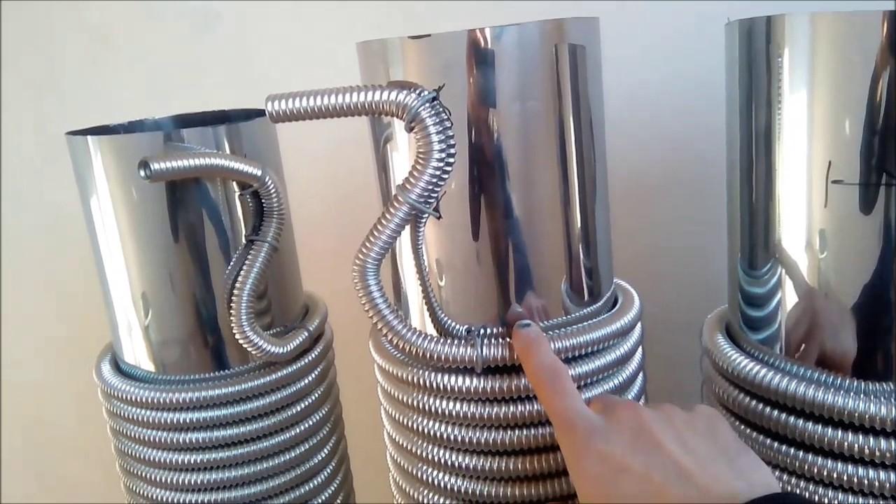 Гофрированная труба своими руками