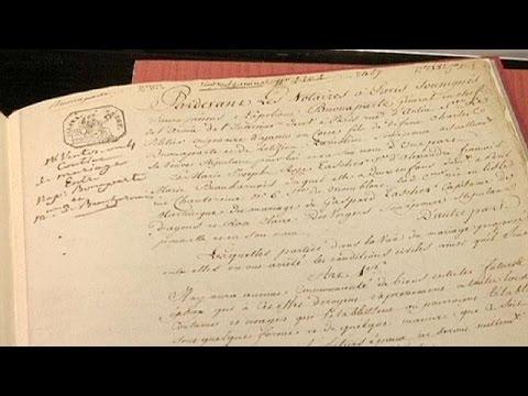 عقد زواج نابليون بونابرت من جوزفين في المزاد العلني.