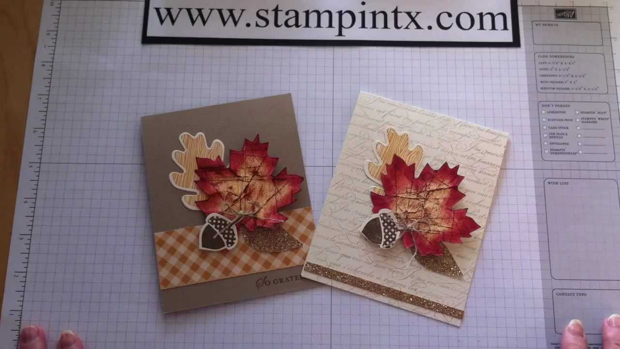 How To Create Beautiful Fall Cards Using Stampin Up