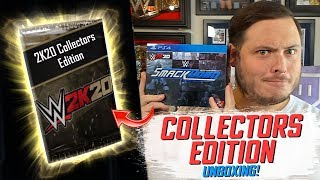 UNBOXING WWE 2K20 Smackdown Collectors Edition!! LIMITED EDITION WWE SuperCard Packs Opened!