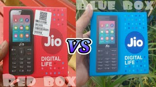 Jio phone blue box vs red box unboxing | difference between blue box & red box