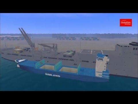 Ship Pedestal Crane Simulator by GlobalSim