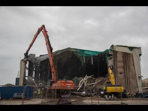 Afan Lido Demolition - Port Talbot - HD
